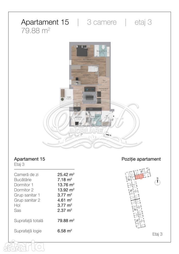 Apartament de vanzare, Cluj-Napoca, Cluj, Gheorgheni - Foto 3