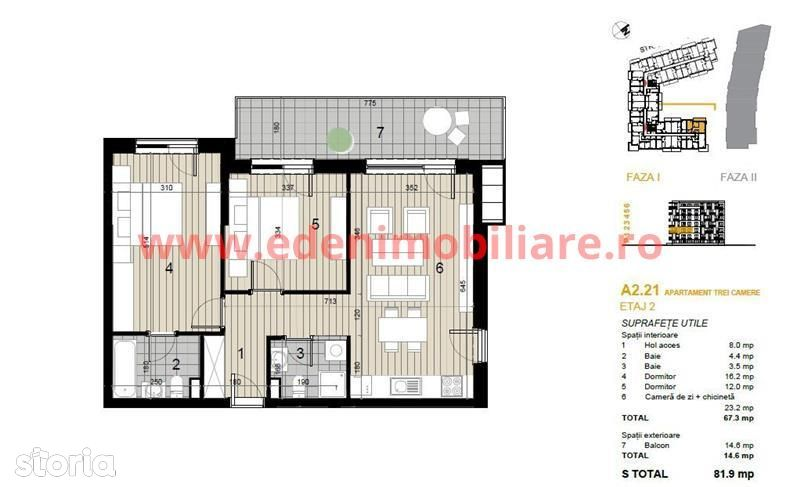 Apartament de vanzare, Cluj (judet), Strada Argeș - Foto 3
