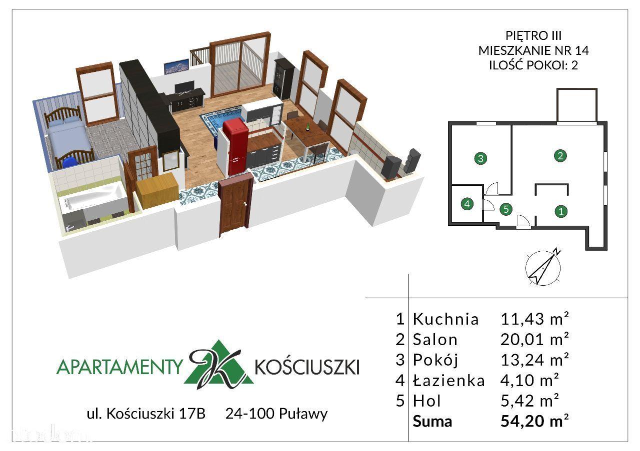 Mieszkanie na sprzedaż, Puławy, puławski, lubelskie - Foto 1015