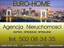 To ogłoszenie mieszkanie na wynajem jest promowane przez jedno z najbardziej profesjonalnych biur nieruchomości, działające w miejscowości Warszawa, Mokotów: EURO HOME
