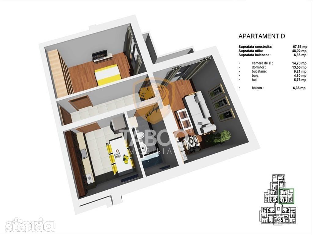 Apartament de vanzare, Sibiu, Terezian - Foto 6