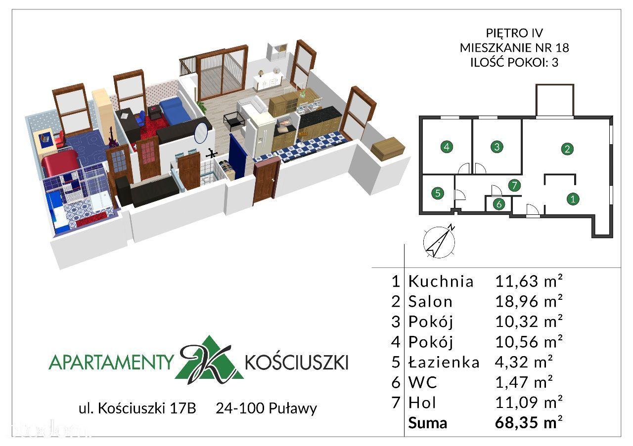 Mieszkanie na sprzedaż, Puławy, puławski, lubelskie - Foto 1018