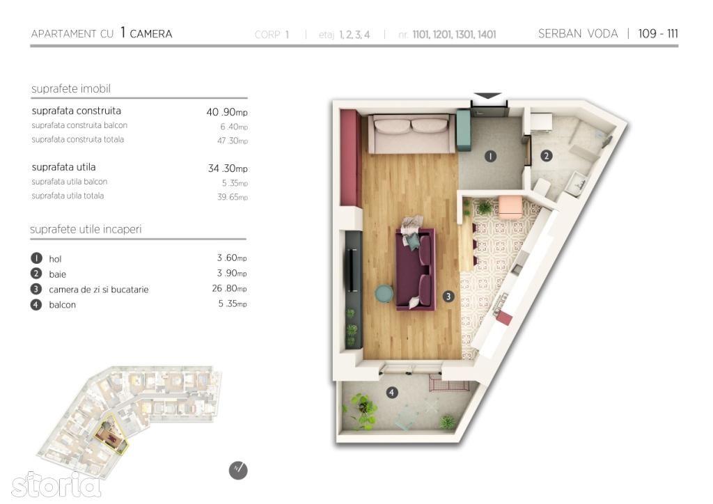 Apartament de vanzare, Bucuresti, Sectorul 4, Cantemir - Foto 1