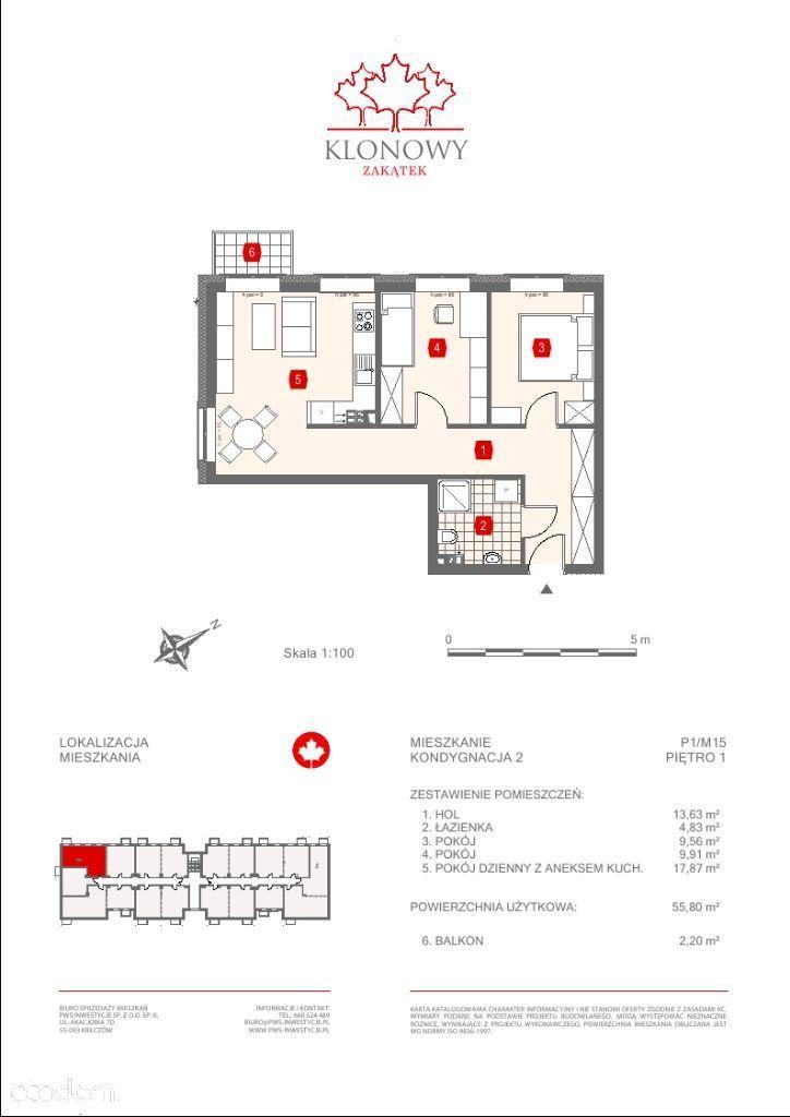 Mieszkanie na sprzedaż, Kamieniec Wrocławski, wrocławski, dolnośląskie - Foto 1