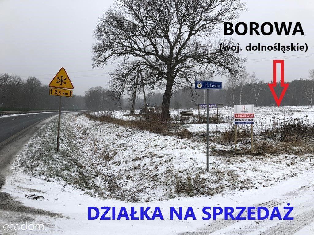 Działka na sprzedaż, Borowa, wrocławski, dolnośląskie - Foto 1
