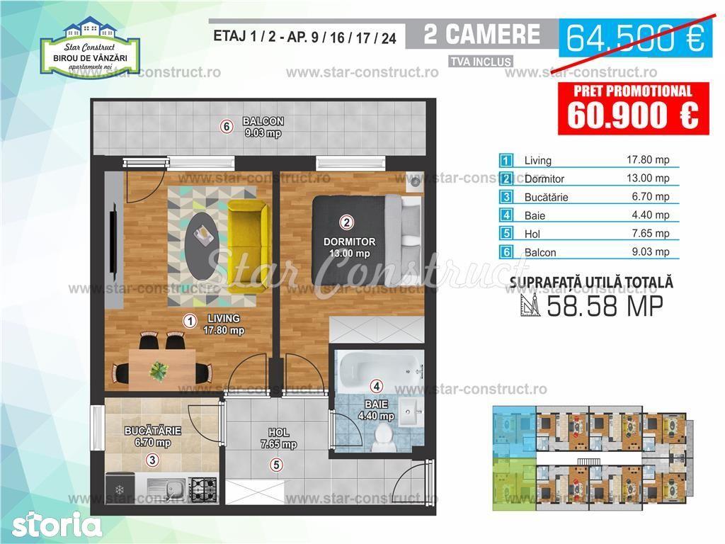 Apartament de vanzare, București (judet), Strada Vitioara - Foto 6