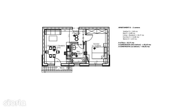 Apartament de inchiriat, Ilfov (judet), Otopeni - Foto 12