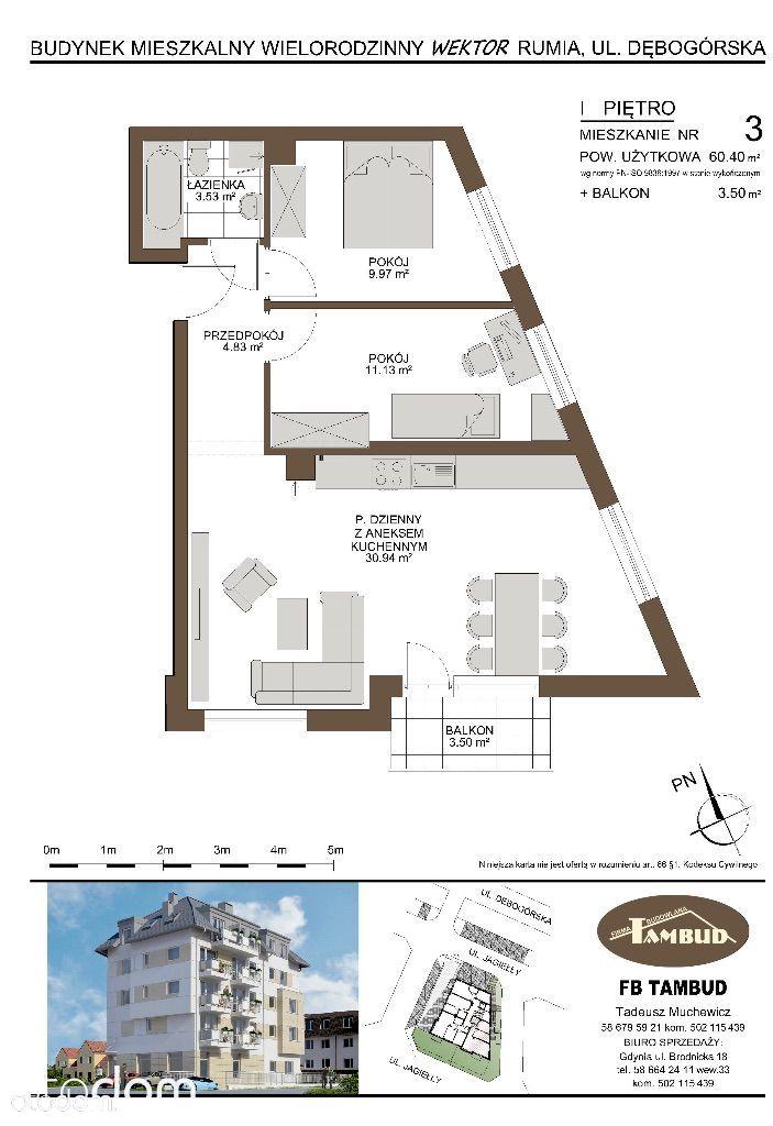 Mieszkanie na sprzedaż, Rumia, wejherowski, pomorskie - Foto 1011