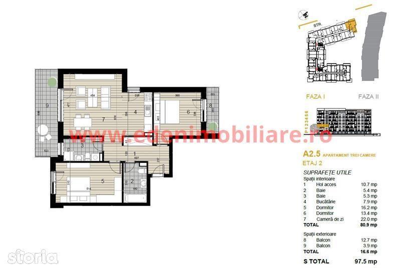 Apartament de vanzare, Cluj (judet), Strada Argeș - Foto 2