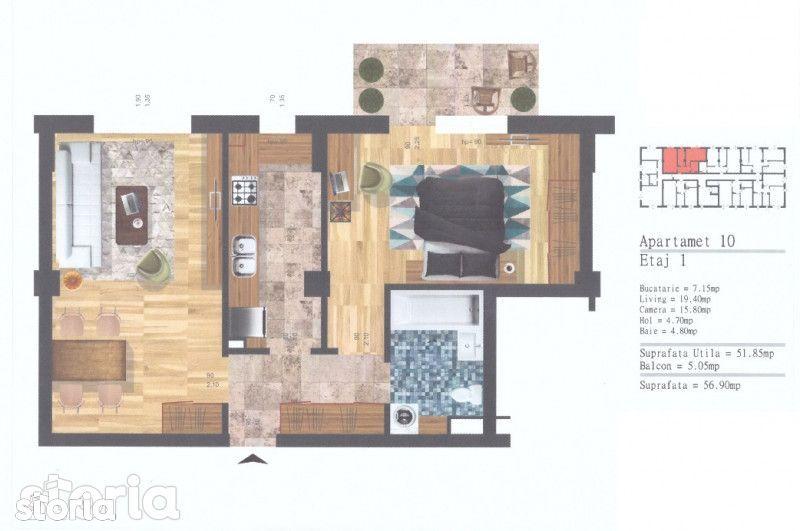 Apartament de vanzare, Cluj-Napoca, Cluj, Floresti - Foto 6