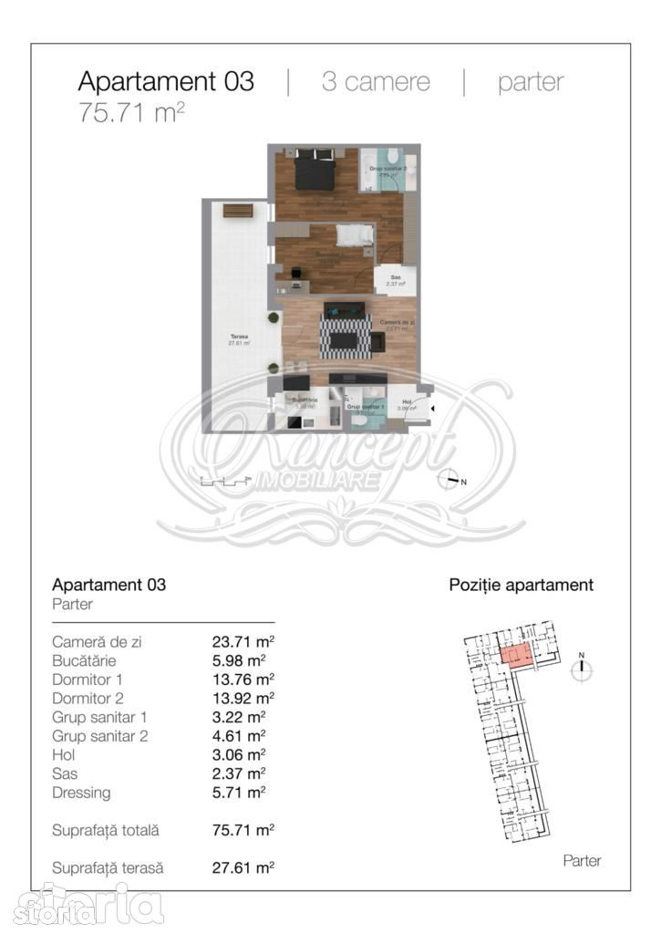 Apartament de vanzare, Cluj-Napoca, Cluj, Gheorgheni - Foto 19