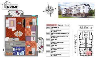 Katowice- M9 Apartament 3 pokojowy - 51,31 m2