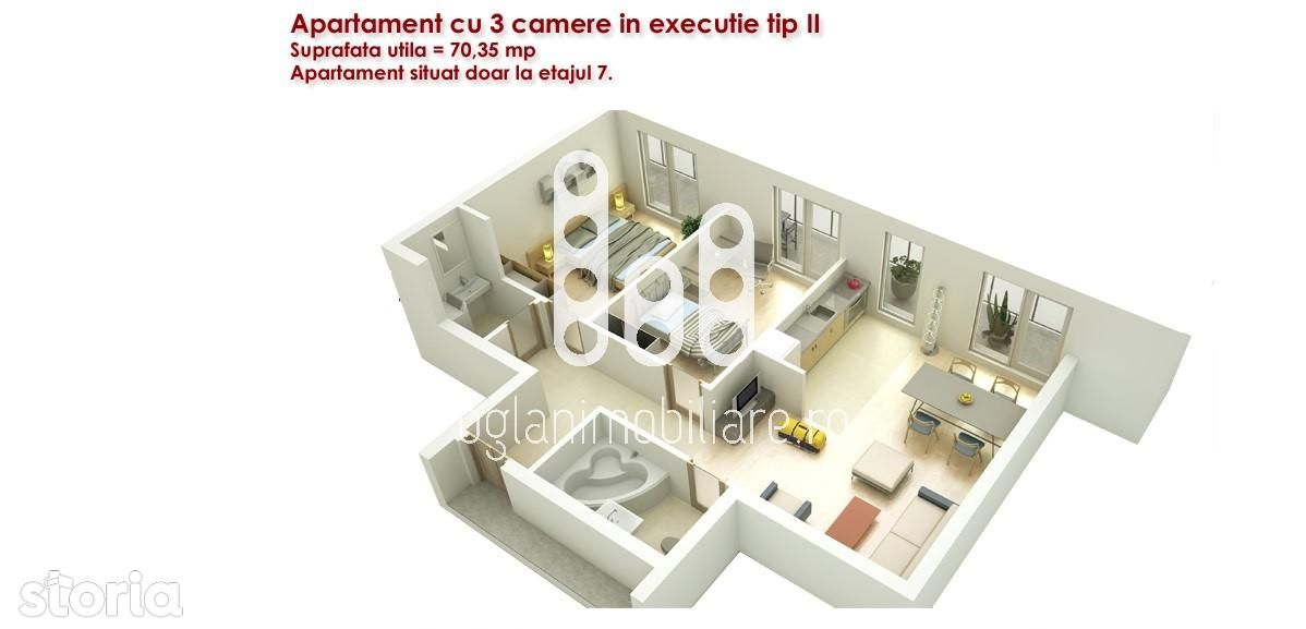 Apartament de vanzare, Sibiu (judet), Bulevardul Mihai Viteazu - Foto 7