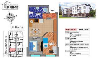 Katowice- M11 Apartament 2 pokojowy - 39,71 m2