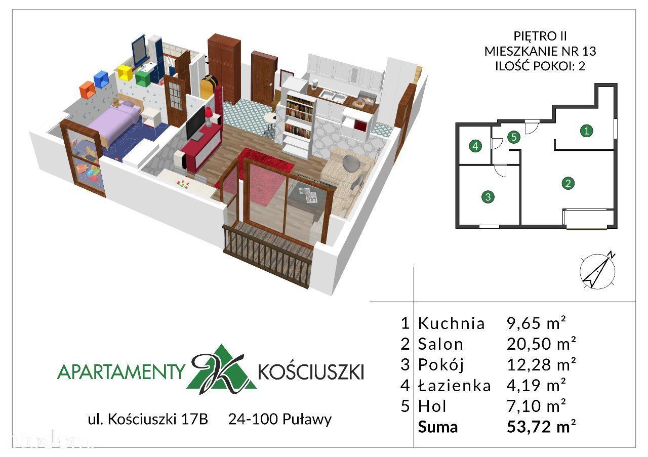 Mieszkanie na sprzedaż, Puławy, puławski, lubelskie - Foto 1