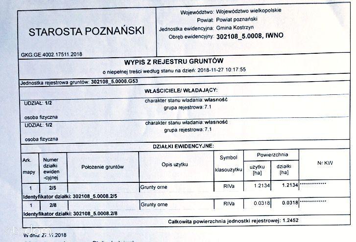 Działka na sprzedaż, Kostrzyn, poznański, wielkopolskie - Foto 9