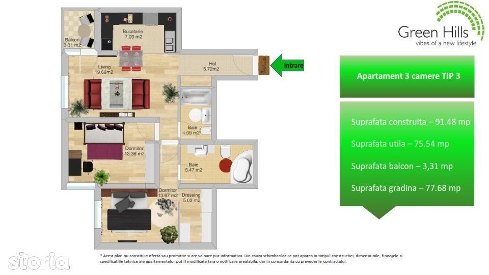 Apartament de vanzare, Neamț (judet), Strada Profesor Iulian Antonescu - Foto 2