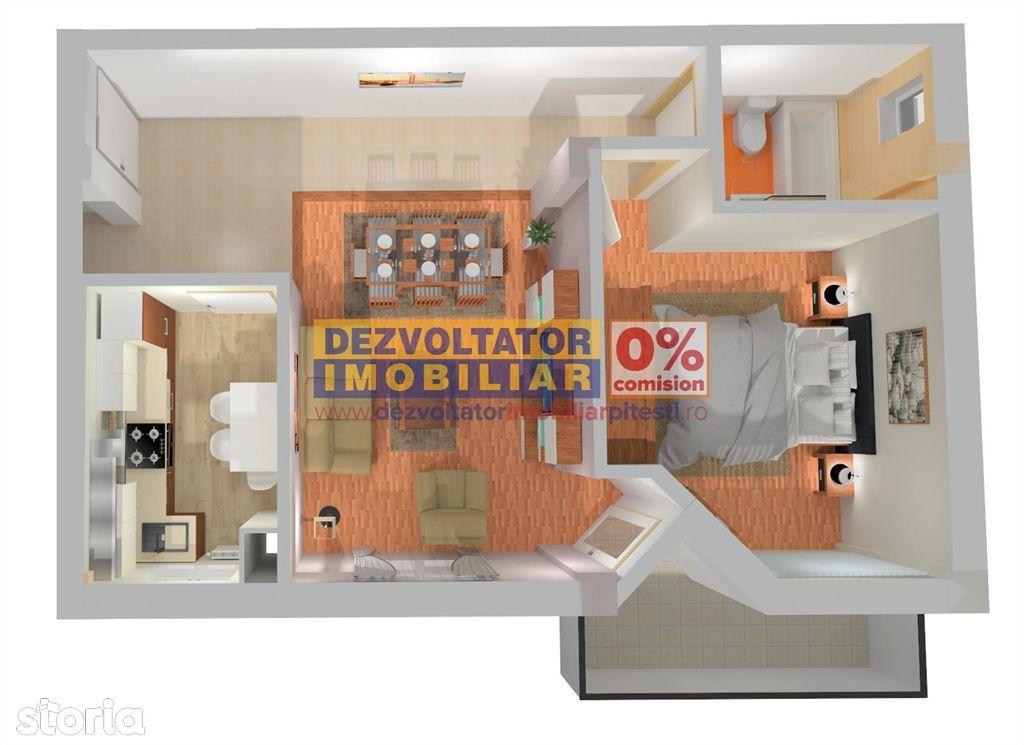 Apartament de vanzare, Argeș (judet), Strada Alexandru Kirițescu - Foto 2