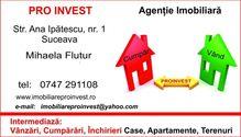 Aceasta apartament de vanzare este promovata de una dintre cele mai dinamice agentii imobiliare din Suceava (judet), Suceava: Pro Invest Imobiliare