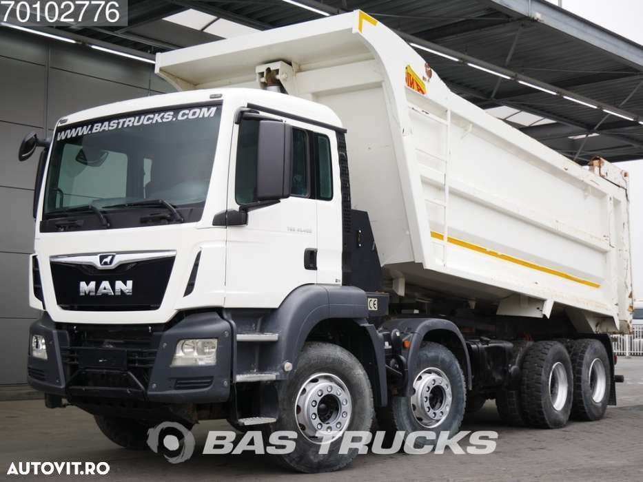 MAN TGS 41.400 M 8X4 27m3 Euro 6 Manual Big-Axle Steelsuspension - 1