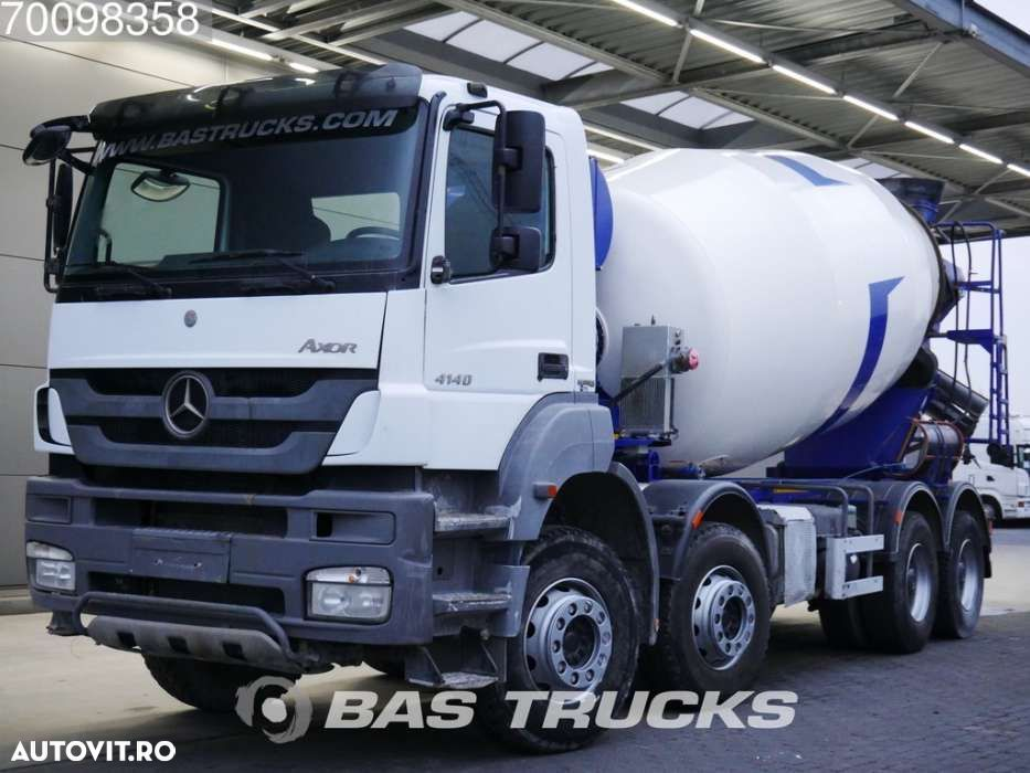 Mercedes-Benz Axor 4140 B 8X4 12m3 Manual Big-Axle Steelsuspension Euro 5 - 1