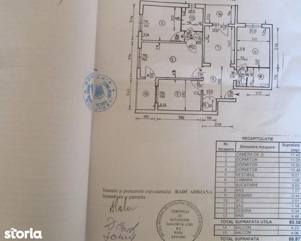 Apartament de vanzare, București (judet), 13 Septembrie - Foto 13