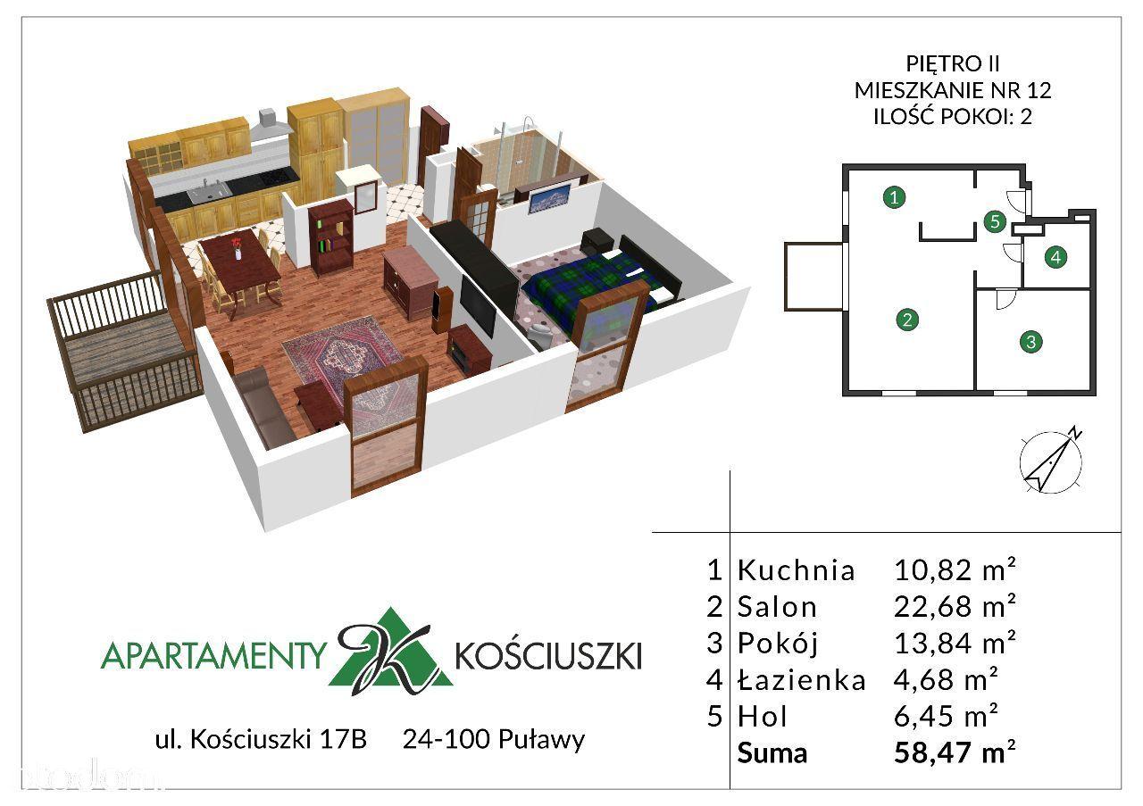 Mieszkanie na sprzedaż, Puławy, puławski, lubelskie - Foto 1013
