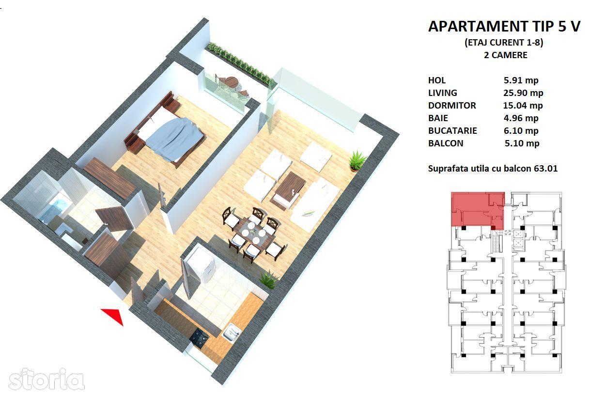 Apartament de vanzare, Constanța (judet), Sandu Chiosea - Foto 1