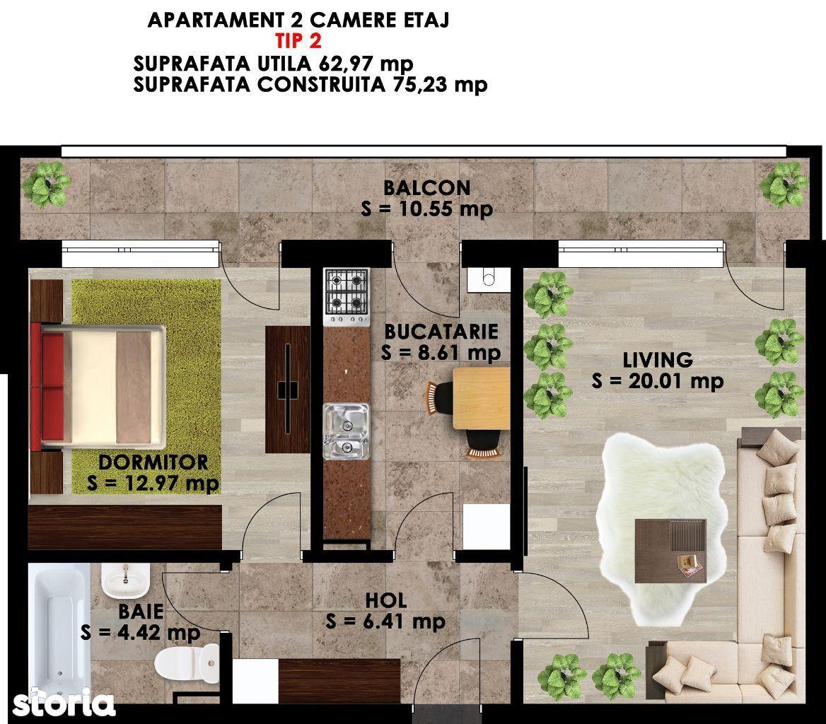 Apartament de inchiriat, Ilfov (judet), Măgurele - Foto 10