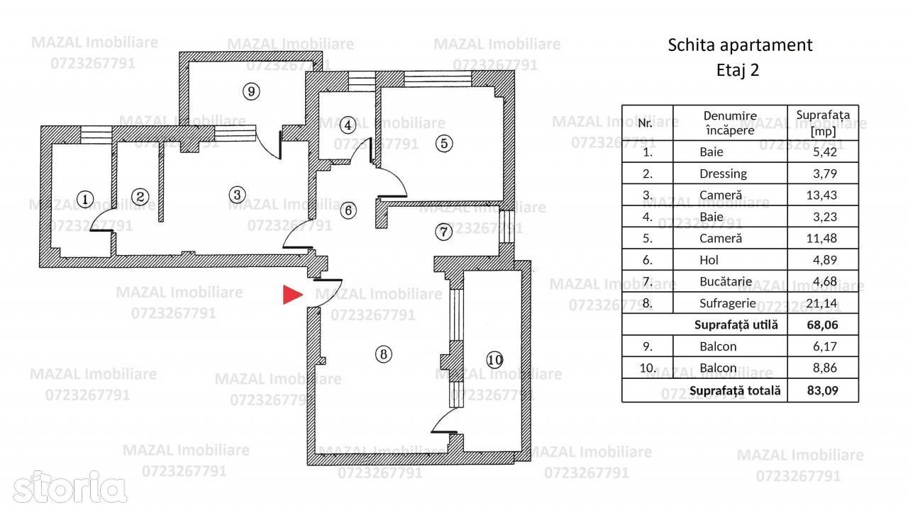 Apartament de vanzare, Ilfov (judet), Pantelimon - Foto 2