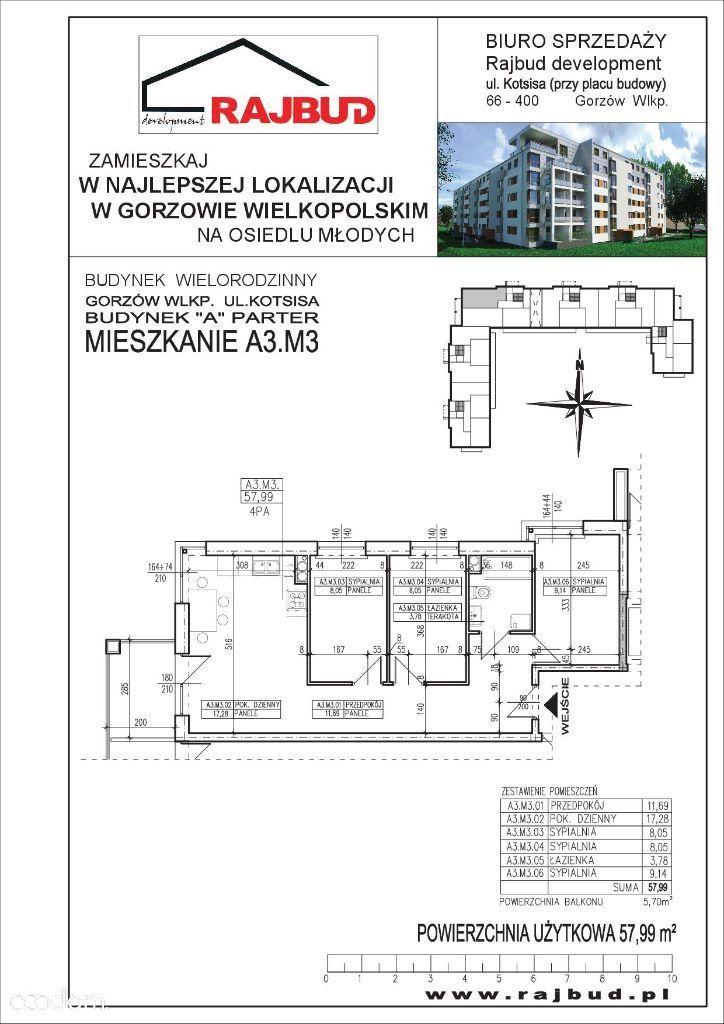Mieszkanie na sprzedaż, Gorzów Wielkopolski, Osiedle Staszica - Foto 2