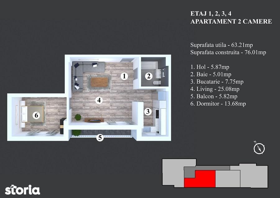 Apartament de vanzare, București (judet), Strada Nicodim - Foto 2