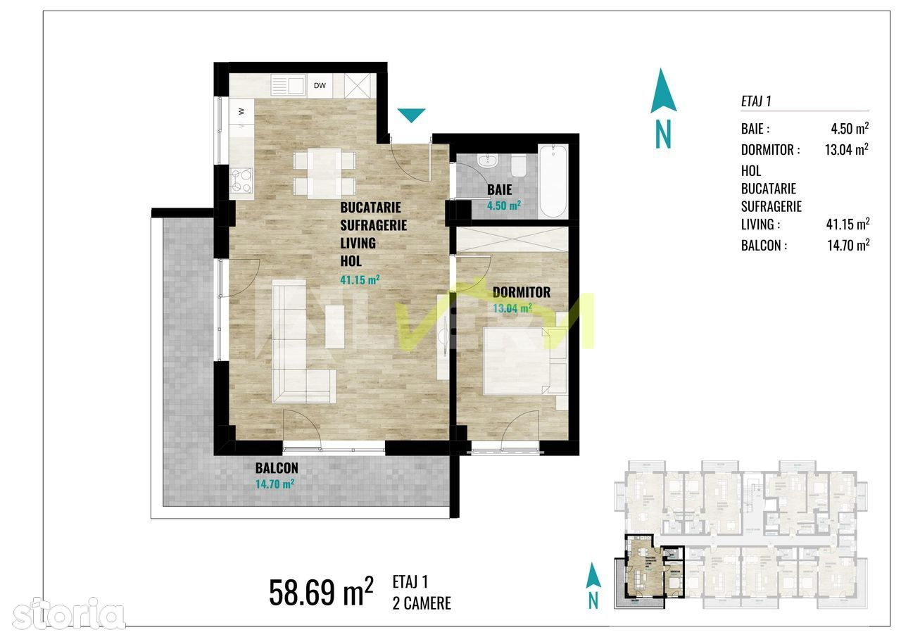 Apartament de vanzare, Cluj (judet), Strada Kelemen Lajos - Foto 9