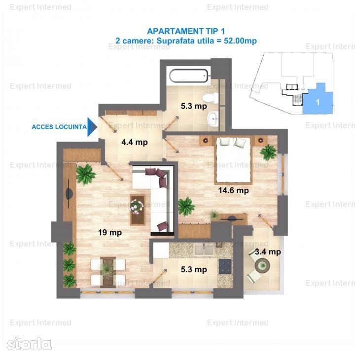 Apartament de vanzare, Iași (judet), Strada Hlincea - Foto 3