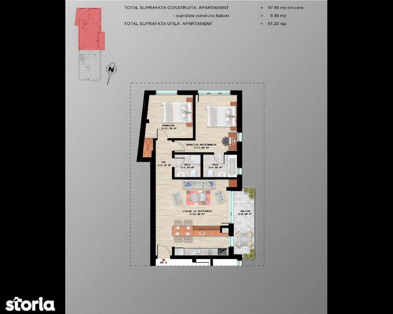Apartament de vanzare, București (judet), Armenesc - Foto 11