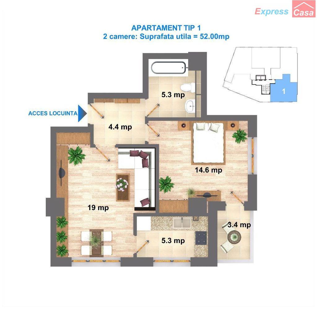 Apartament de vanzare, Iași (judet), CUG - Foto 12