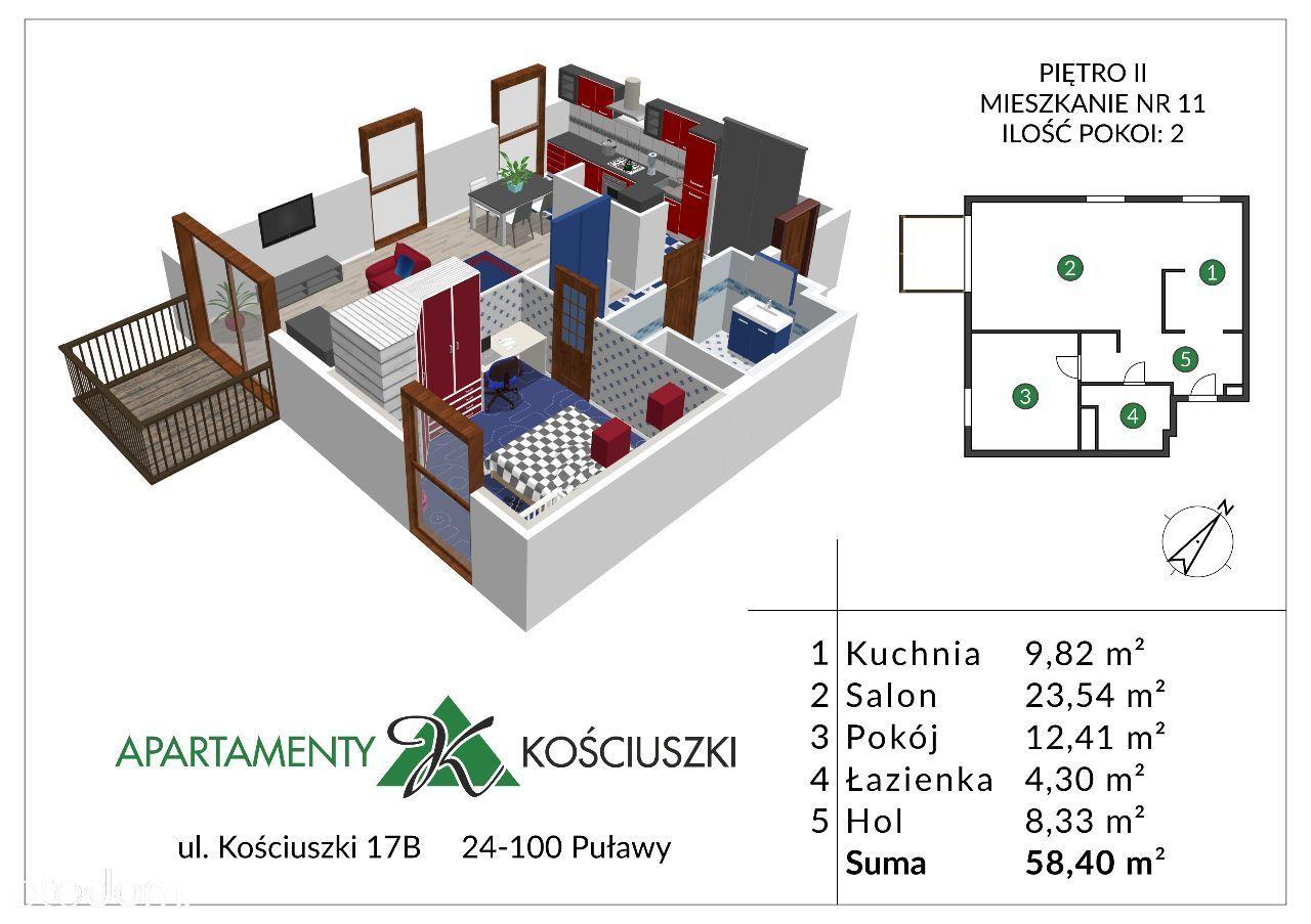 Mieszkanie na sprzedaż, Puławy, puławski, lubelskie - Foto 1012