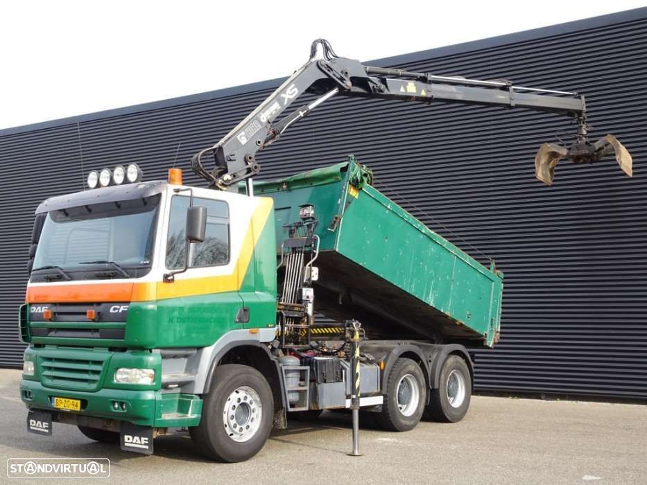 DAF CF 85.480 / 6X4 MANUAL + RETARDER CRANE + TIPPER / STEEL ... - 1