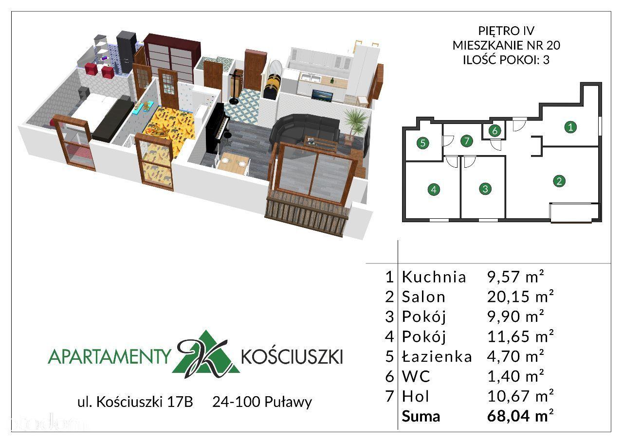 Mieszkanie na sprzedaż, Puławy, puławski, lubelskie - Foto 1020