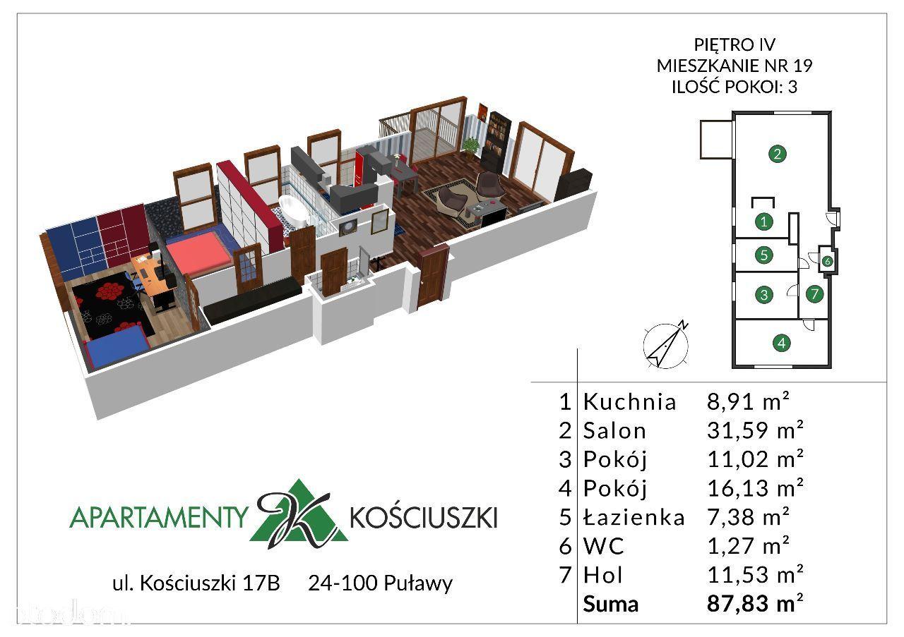 Mieszkanie na sprzedaż, Puławy, puławski, lubelskie - Foto 1019