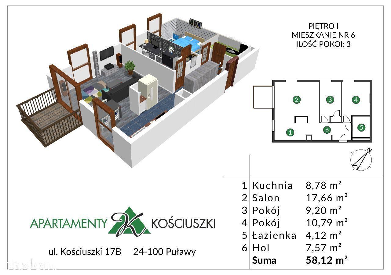Mieszkanie na sprzedaż, Puławy, puławski, lubelskie - Foto 1008