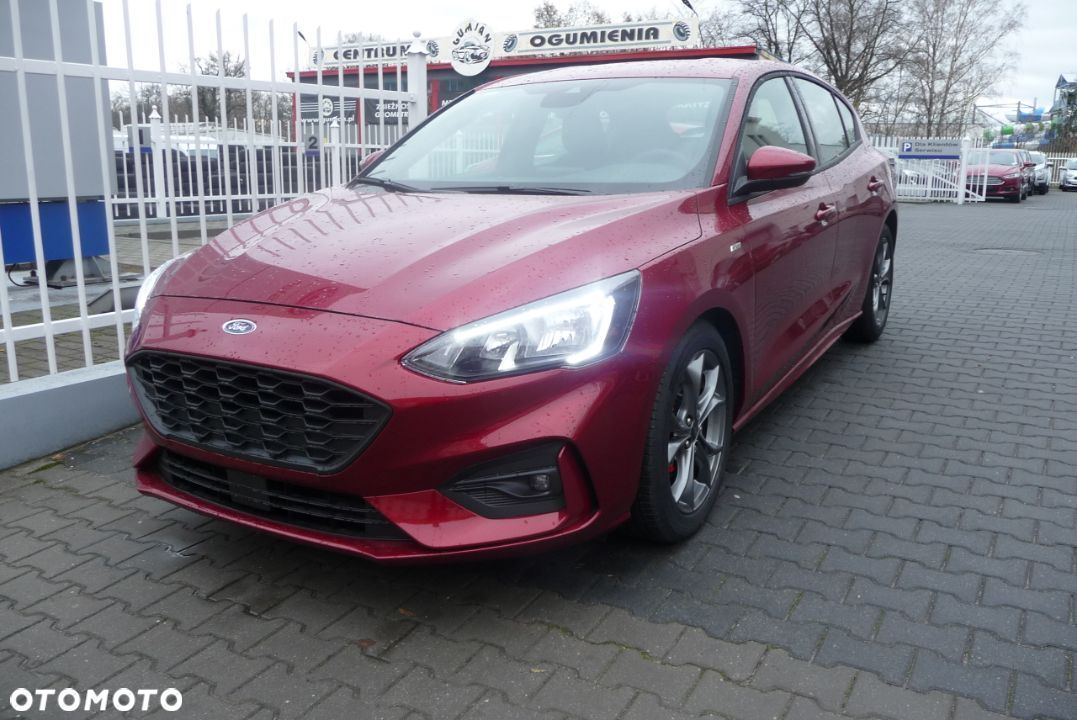 Ford Focus 1.5 EcoBoost 150 KM, ST Line Ruby Red + PAKIETY KREDYT 0% - 1