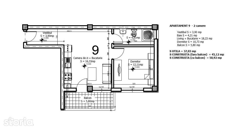 Apartament de inchiriat, Ilfov (judet), Otopeni - Foto 8