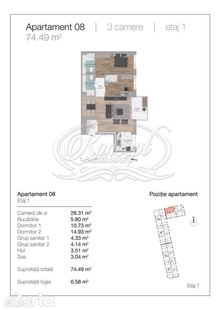 Apartament de vanzare, Cluj-Napoca, Cluj, Gheorgheni - Foto 9