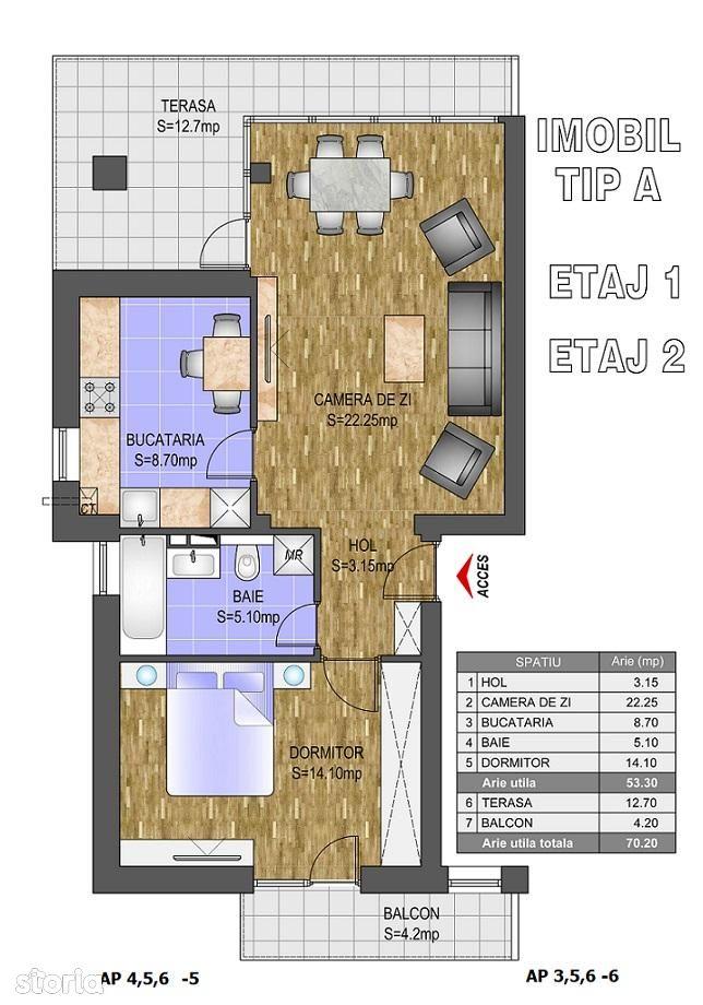 Apartament de vanzare, Ilfov (judet), Strada Leordeni - Foto 1