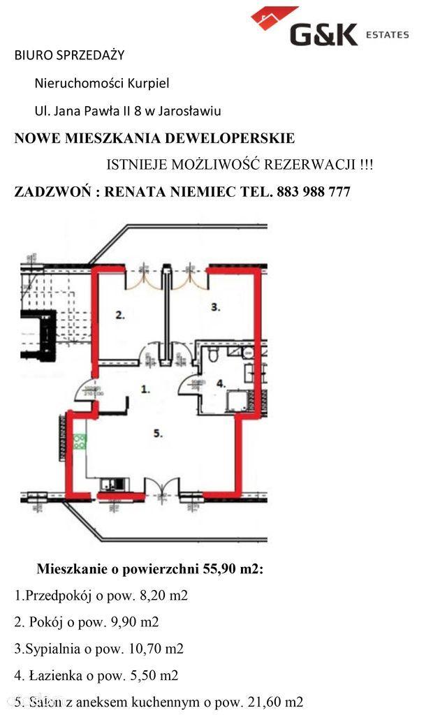 Mieszkanie na sprzedaż, Jarosław, jarosławski, podkarpackie - Foto 1