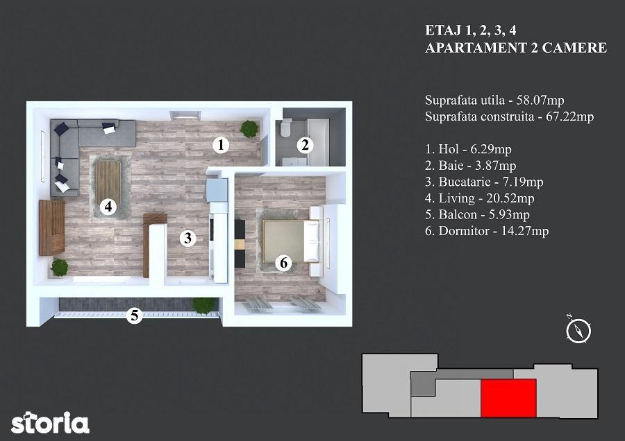 Apartament de vanzare, București (judet), Strada Nicodim - Foto 1