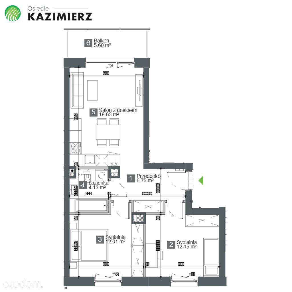 Mieszkanie na sprzedaż, Gdańsk, Maćkowy - Foto 1