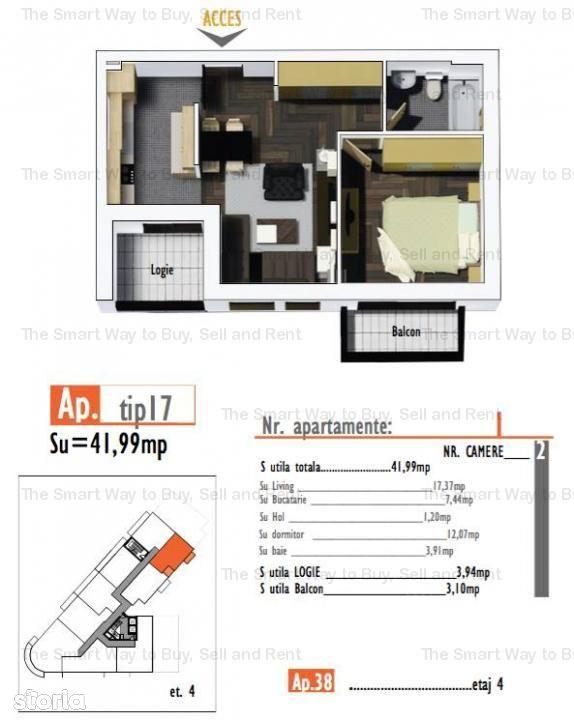 Apartament de vanzare, Cluj (judet), Strada Bulgarilor - Foto 1