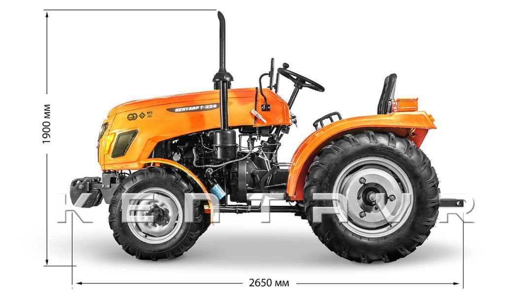 Tractor Kentavr T-224, 24CP, 4x4WD - 15